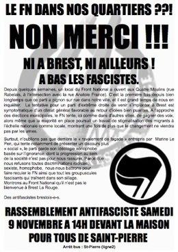 La Horde – Brest : le FN dans nos quartiers, non merci ! | Brest même | Scoop.it