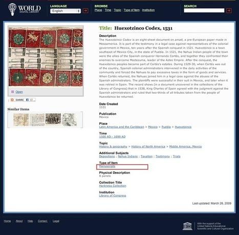 Wdl. Une bibliothèque numérique mondiale | Educommunication | Scoop.it
