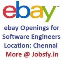 Ebay Openings for Software Engineers on December 2014 At Chennai « jobsfy | Latest Job Alerts | Scoop.it