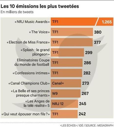 Télé : les Français se déchaînent sur Twitter et Facebook - Les Échos | Twitter, tweets et retweets | Scoop.it