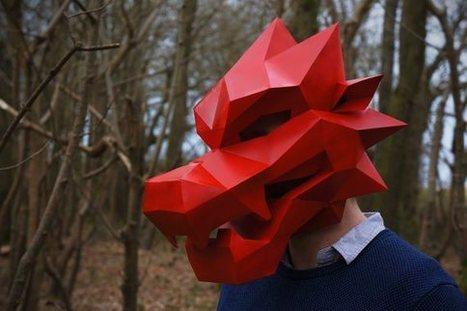 Le masque de loup pour une version impression 3D du petit chaperon rouge | La veille de l'atelier | Scoop.it