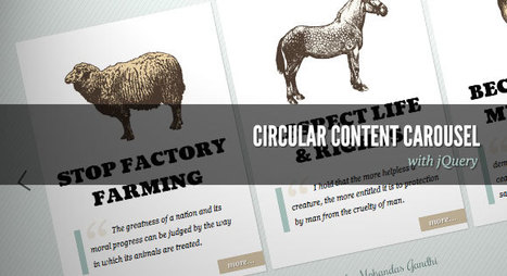 Circular Content Carousel with jQuery | Slideshow & Carousel Jquery | Scoop.it