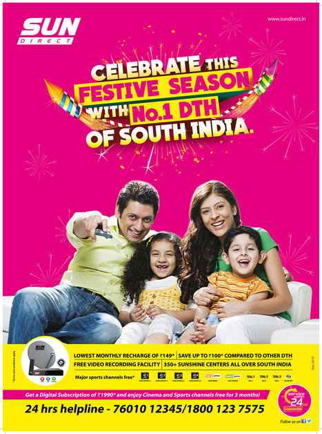 Celebrate This Diwali with Exiciting Offers From Sun Direct – 2016 | Dish TV Service Providers in India | Scoop.it