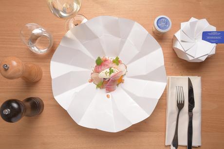 Cet emballage alimentaire se transforme en assiette grâce à l'origami | The fisheye of gourmet food & wine! | Scoop.it