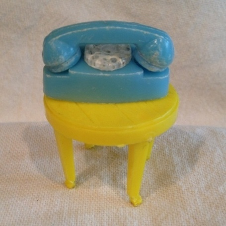 A Vintage Barbie Doll Princess Phone and a Side Table! From the 1960's! | Antiques & Vintage Collectibles | Scoop.it