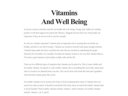Vitamins And Well Being | The Finchley clinic | Scoop.it
