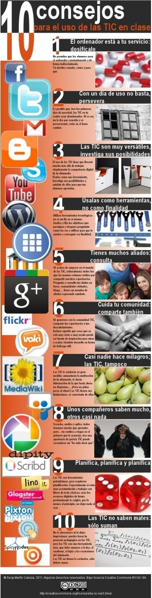 10 consejos para el uso de las TIC en clase #infografia #infographic #education | Technology and language learning | Scoop.it