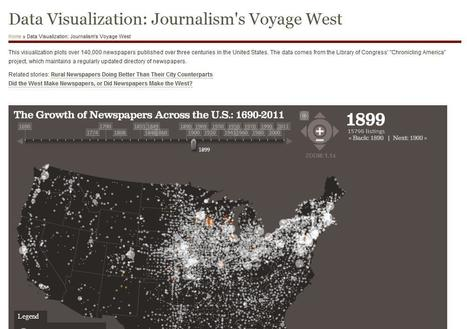 Data Visualization: Journalism's Voyage West | Data Mining For Journalists | Scoop.it