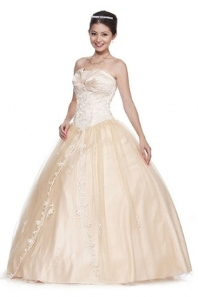 BallGown Strapless Tulle Satin Floor-length Pearl Pink Embroidery Quinceanera Dress at sweetquinceaneradress.com | Quinceanera Dresses 2014 | Scoop.it