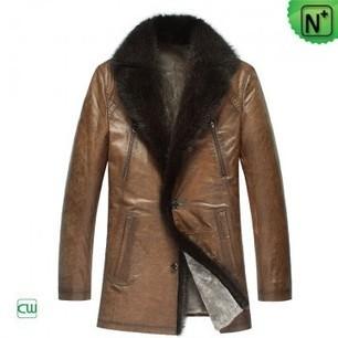 Men's Leather Overcoat CW878505 | Men's | Scoop.it