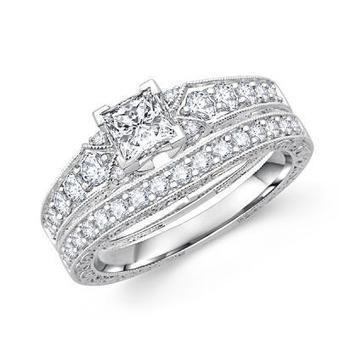 Princess Cut Diamond Wedding Set | Wedding Ring | Scoop.it