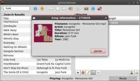 gSharkDown, pour télécharger et écouter les musiques de Grooveshark avec Linux | Libre | Scoop.it