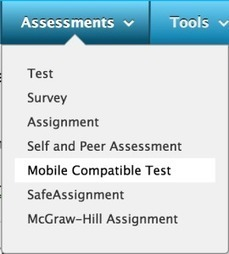 Blackboard Feature Spotlight: Mobile Compatible Tests | EdTech Connection | Blackboard Basics and other software | Scoop.it