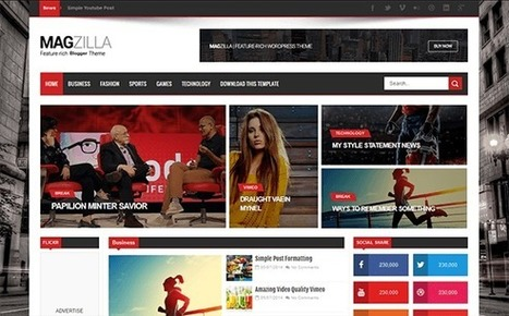 MAG ZILLA | Blogger themes | Scoop.it