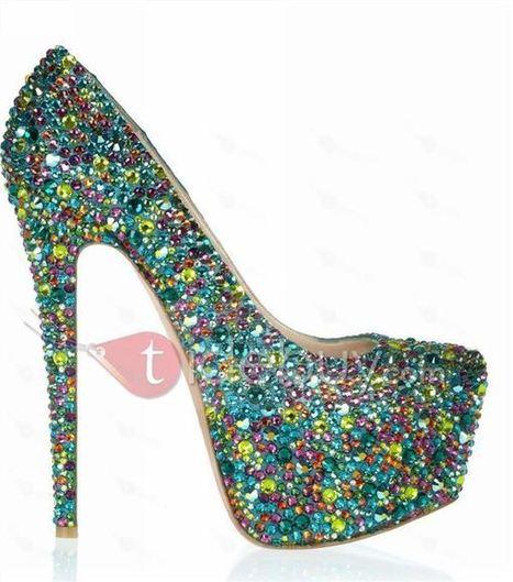 Fashionable Colorful Shining High Heels Upper Platform Women Pumps | warmhat | Scoop.it