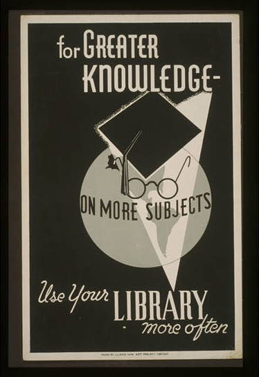 9 Striking Library Posters from the Great Depression - BOOK RIOT | The Information Professional | Scoop.it