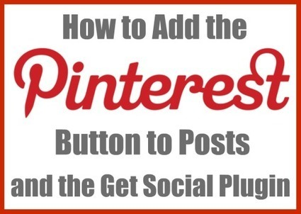 How to add a PinIt Button to post - Mommy Words | Pinterest and Facebook Tweaking | Scoop.it