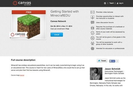Instructure Launches Minecraft MOOCs for K-12 -- THE Journal | Education | Scoop.it