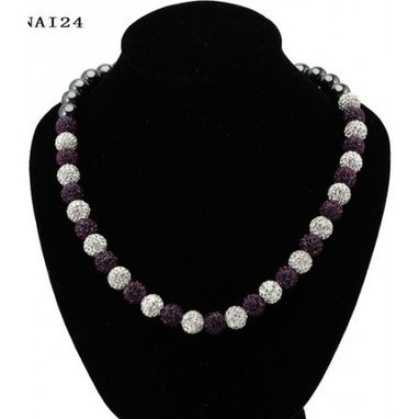 Swarowski Clay Dark Purple and White 30 Balls 10mm Crystal Beads Shamballa Necklace Cheap Sale In Shamballa Canada Online Store | My favourit photos | Scoop.it