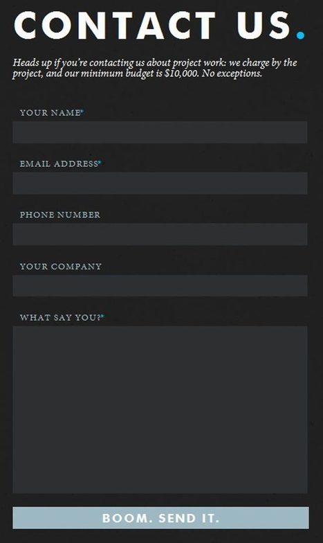 25 Amazingly Creative Contact Forms | Content Creation, Curation, Management | Scoop.it