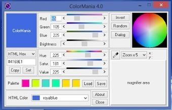 ColorMania : Eφαρμογή επιλογής χρώματος για γραφίστες και εφαρμογες Web | Δωρεάν προγράμματα, Τεχνολογία | Scoop.it