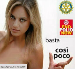 Miss Italia Maria Perrusi Ambassador End Polio Now @Rotary | End Polio Now | Scoop.it