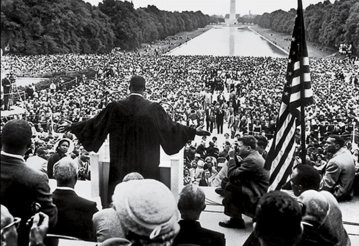 """The Shape of Spectacular Speech: An Infographic Analysis of What Made MLK's """"I Have a Dream"""" Great 
