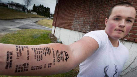Not Lovin' It: McDonald's Receipt Tattoo Must be the Worst Ink Ever - Gizmodo UK | Body Ink | Scoop.it
