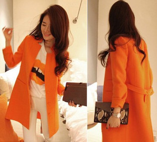 Cheap Bat type suit collar orange slim long wool trench coat for women in women outcoat from women clothing on sightface.com | Cheap women Clothing Online at Sightface | Scoop.it