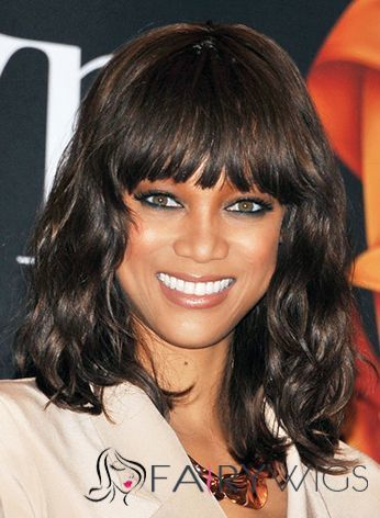 Wonderful Medium Sepia Female Tyra Wavy Celebrity Hairstyle 14 Inch : fairywigs.com | African American Wigs | Scoop.it