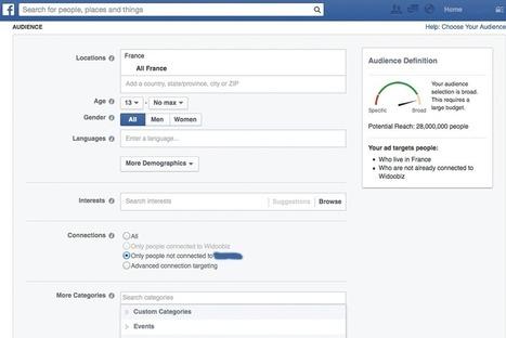 Publicité Facebook : Des critères de campagne de plus en plus ciblés   Le complexe de la chef de projet   Scoop.it