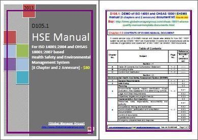 Sample Documents on HSE Manual | Global Manager Group | Scoop.it