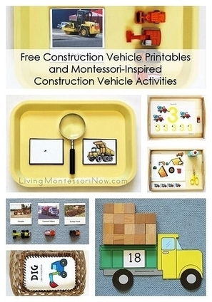 Free Construction Vehicle Printables and Montessori-Inspired Construction Vehicle Activities | Montessori Inspired | Scoop.it
