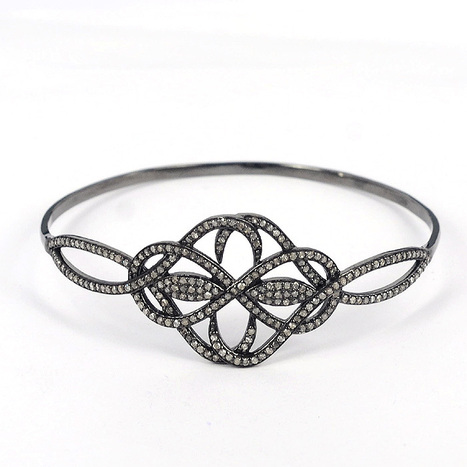 Pave Diamond Designer Bangle | Diamond Jewelry | GemcoDesigns | Pave Diamond Bangle | Diamond Jewelry | GemcoDesigns | Scoop.it