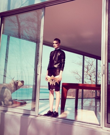 Guinevere van Seenus Gives the 'Cold Shoulder' for Bergdorf Goodman Magazine   TAFT: Trends And Fashion Timeline   Scoop.it