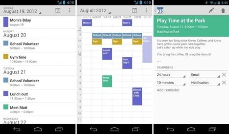 L'application Google Agenda est disponible sur le Play Store   Time to Learn   Scoop.it