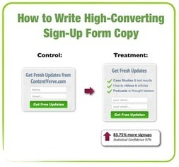 How to Write High-Converting Sign-Up Form Copy (With Case Studies & Examples) | Beyond Marketing | Scoop.it