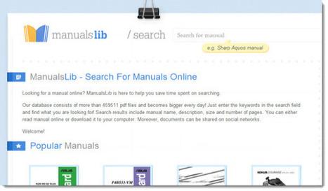 ManualsLib, encontrar manuales online de cualquier marca | Cajón de sastre Web 2.0 | Scoop.it
