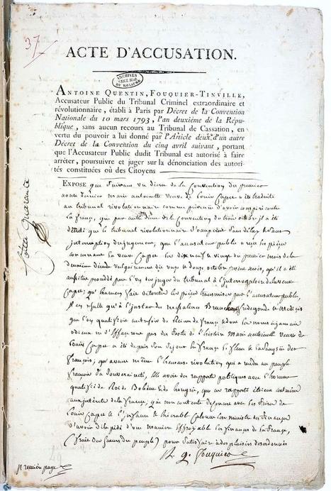 Les dernières heures de Marie-Antoinette - L'Histoire par l'image - Plein cadre | GenealoNet | Scoop.it