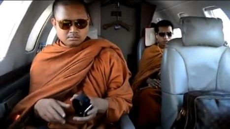 Video polémico: Monjes budistas en un 'jet' privado y con bolsos de Louis Vuitton | Curiosidades | Scoop.it