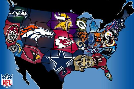 Regional NFL Fan Bases | Maps for urbanization | Scoop.it