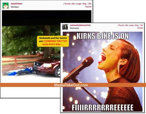 LMAOOOOOOOO!!! Love And Hip Hop Stars RASHEEDA And Her MAMA SHIRLENE Are On Instagram . . . Laughing About BLOWING UP KIRK'S Dirt Bike!!! - MediaTakeOut.com™ 2013 | GetAtMe | Scoop.it