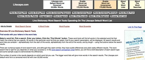 Word Search Tool Overview | L2 Vocabulary Teaching & Learning | Scoop.it