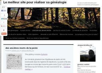 Le site du jour (94) : Jérémy Bourillon | CGMA Généalogie | Scoop.it