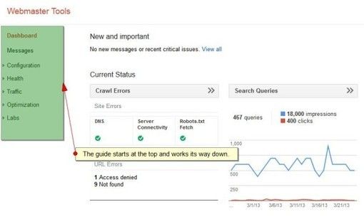 The SEO Guide To Getting Started With Google Webmaster Tools