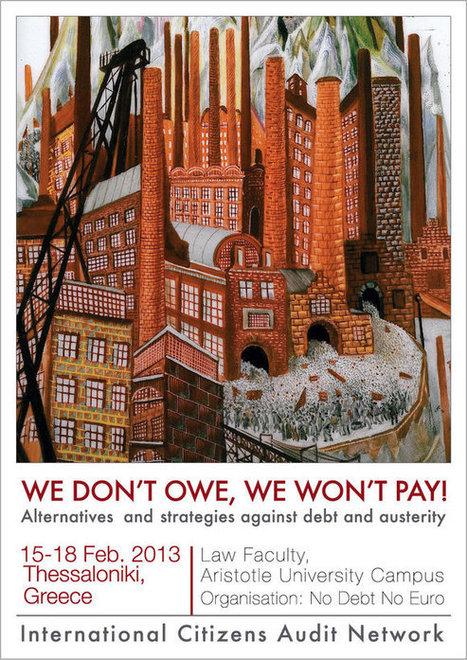 Nous ne devons rien ! Nous ne paierons pas ! | oAnth's day by day interests - via its scoop.it contacts | Scoop.it