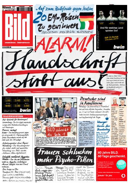Una portada escrita a mano para advertirnos que usamos cada vez menos lapiceros y lápices | Periodismo a secas | Scoop.it
