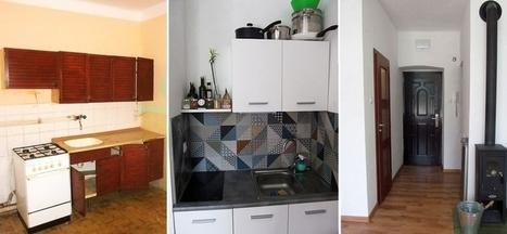 Kúpili miniatúrny byt bez WC a s vaňou v kuchyni. Prestavali ho za minimálne náklady   domov.kormidlo.sk   Scoop.it