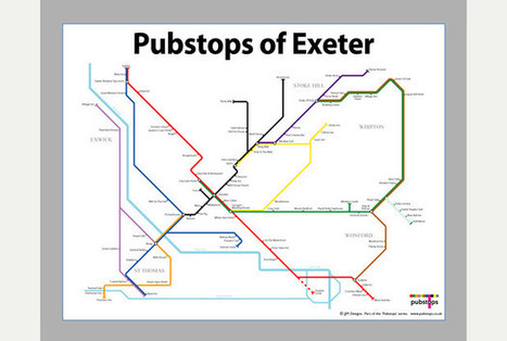 Exeter welcomes new 'tube style' pub map | American Biblioverken News | Scoop.it