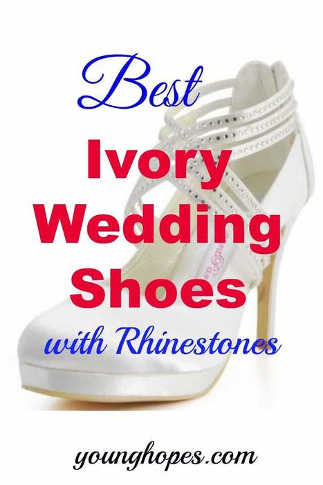 Beautiful Ivory Wedding Shoes With Rhinestones for Bride • | Weddings | Scoop.it